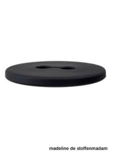 18mm button recycled plastic black