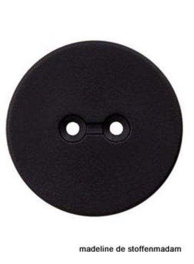 18mm knoop uit gerecycleerd plastic zwart