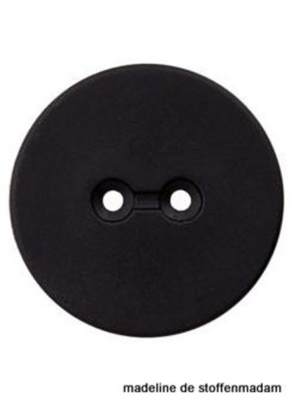 23mm button recycled plastic black