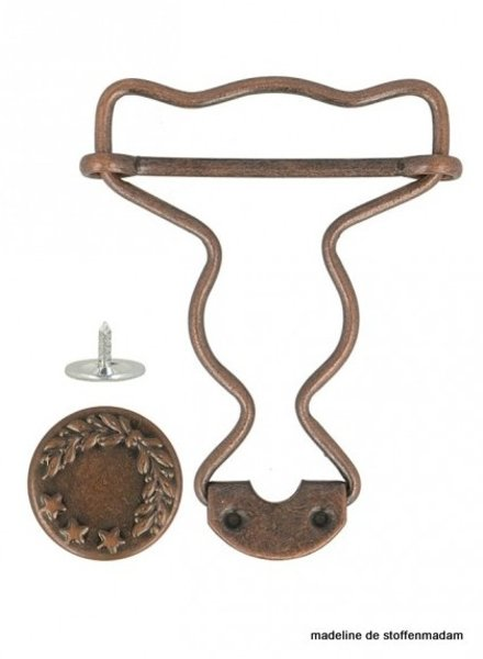 dungarees buckles bronze