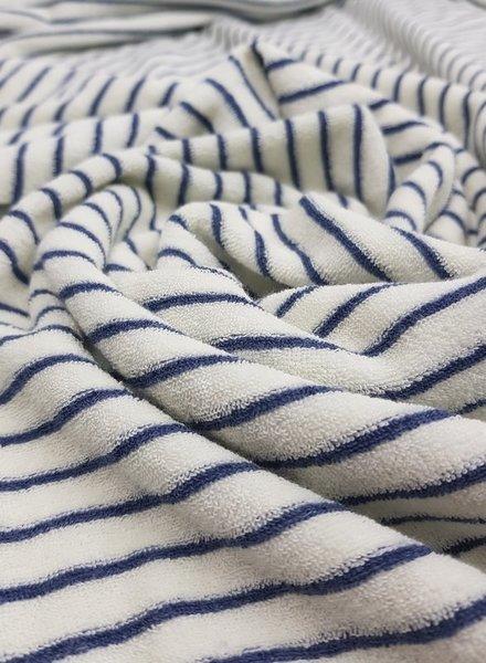 navy stripes terry
