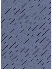 blue diagonal stripes - tricot
