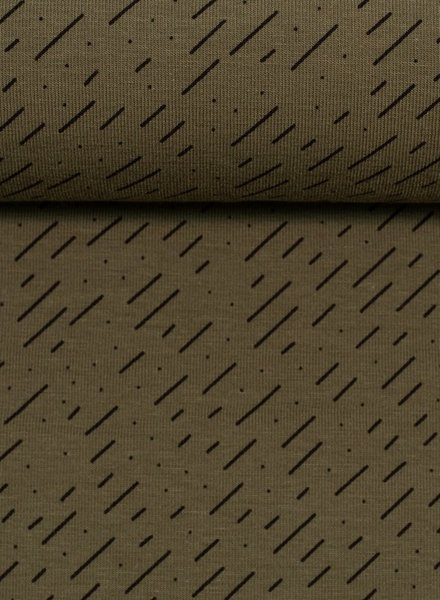 khaki diagonal stripes - jersey