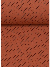 rust diagonal stripes - tricot