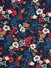 navy blue autumn scene french terry