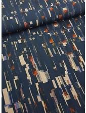 blauwe artistieke print - tricot