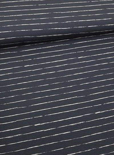 navy pencel print - jersey