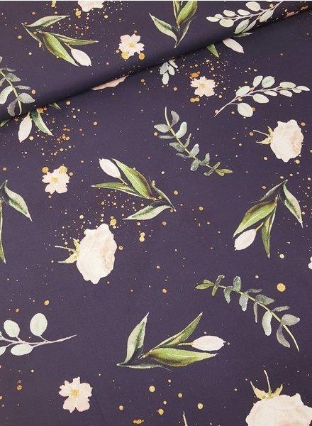 Kim's flowers lila - cotton