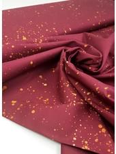 printed spots marsala - cotton