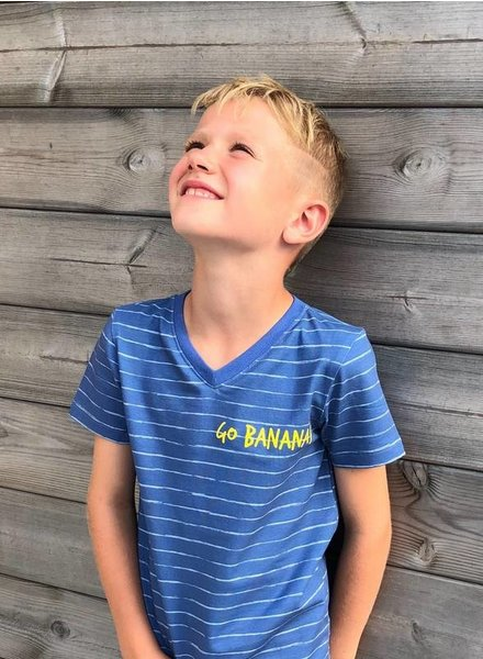 blauw  potlood print - tricot