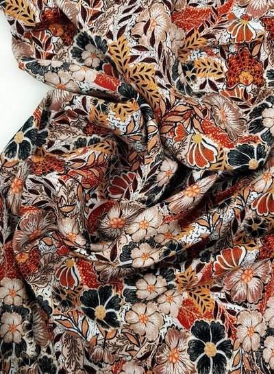beautiful autumn flowers - viscose