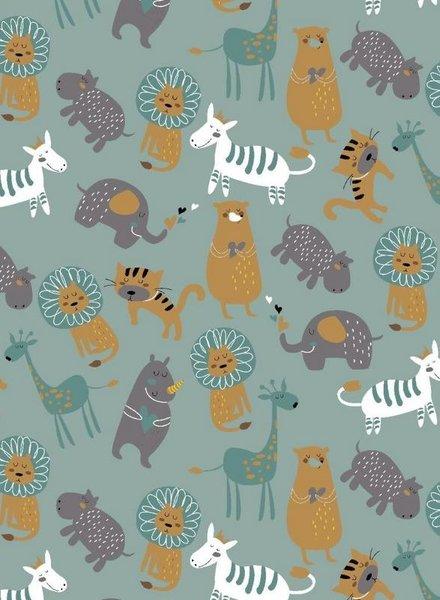 cute zoo mint - soft sweater GOTS