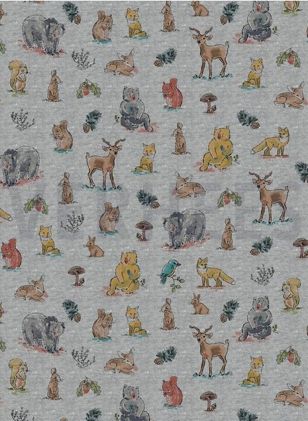 forest animals grey -  jersey