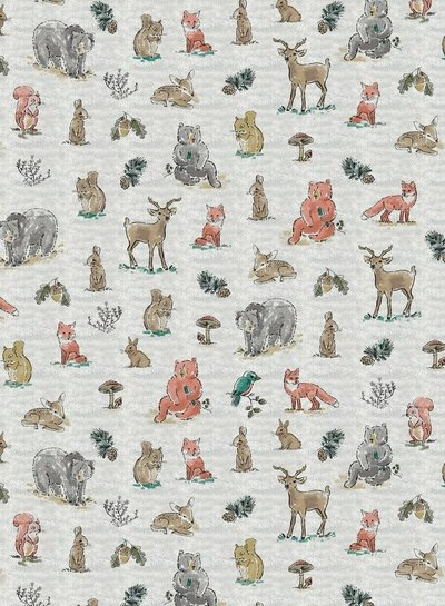 forest animals creme -  jersey
