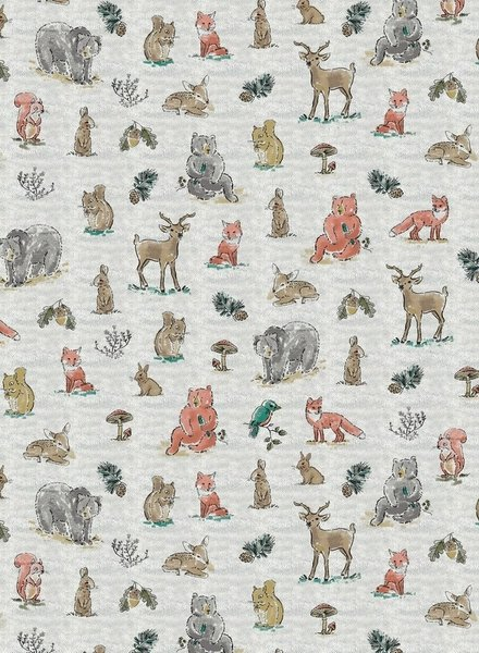 forest animals creme -  tricot
