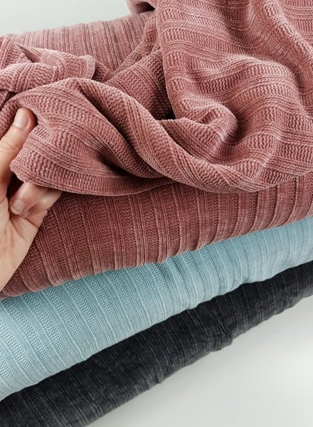 DUSTY PINK - soft touch knitted fabric