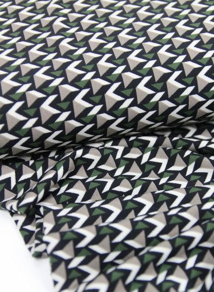 green triangles - stretch fabric