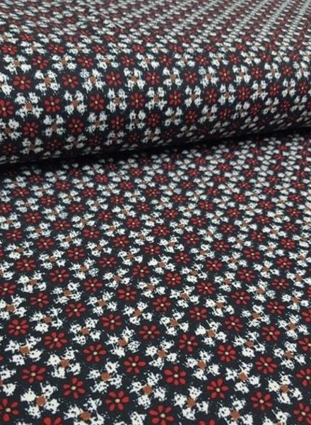 flowers  - soft stretch fabric
