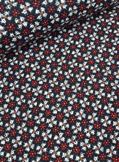 flowers  - soft stretch fabric