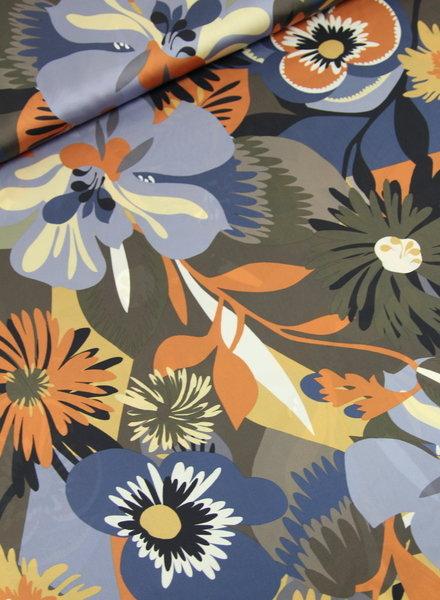 flower print - satijn