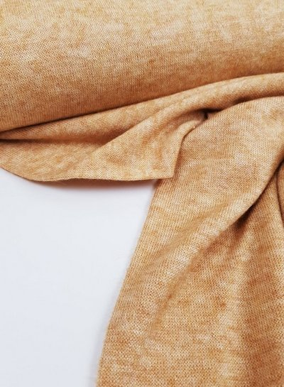 ocre knitted fabric  - super soft