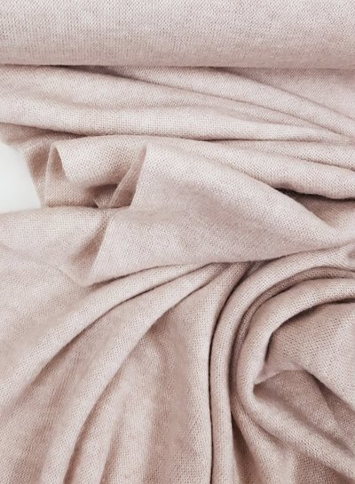 creme knitted fabric  - super soft