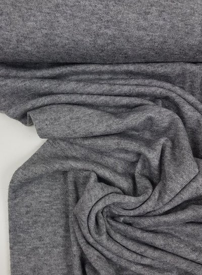 grey knitted fabric  - super soft