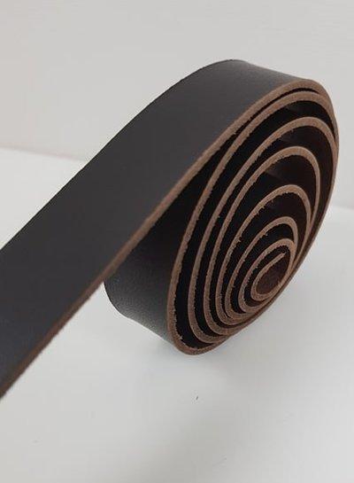 donkerbruin echte lederen riem - verschillende lengtes