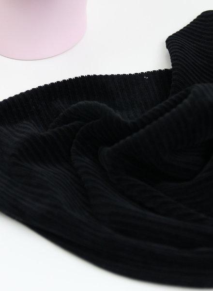 black - stretch corduroy - 100% cotton