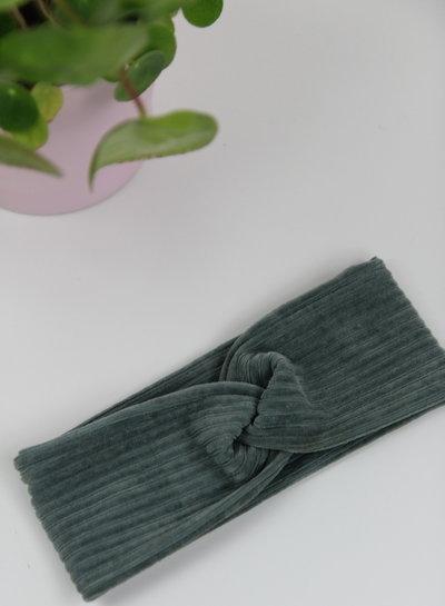 zwart - rekbare corduroy