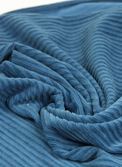 petrol - stretch corduroy - 100% cotton