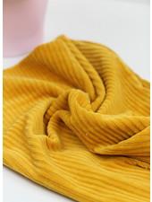 ocre - stretch corduroy - 100% cotton