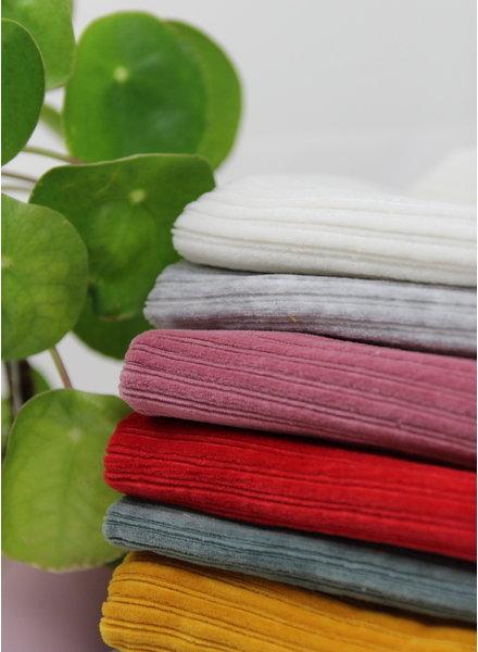creme - stretch corduroy - 100% cotton