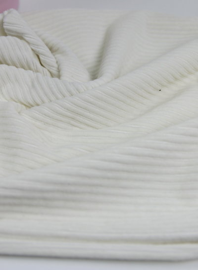 creme - stretch corduroy - 100% cotton