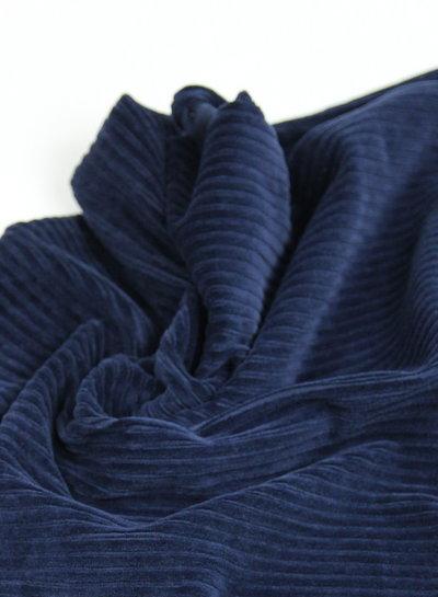 navy - stretch corduroy - 100% cotton
