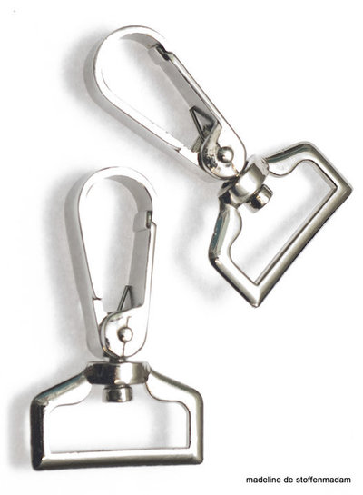 musketon hook silver flat 25 mm