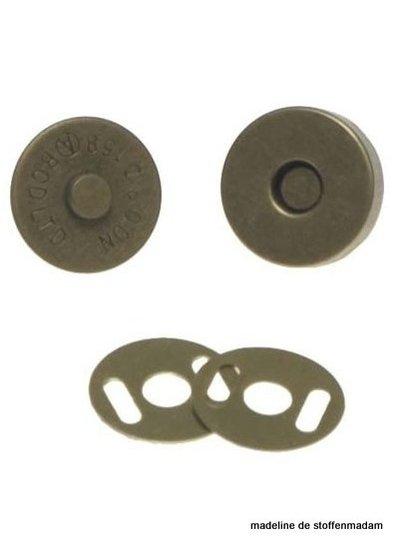 magneetsluiting 14mm brons
