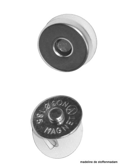 magnetic closure - silver 18mm