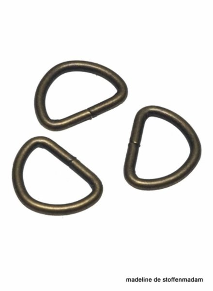D-ring - bronze 20 mm