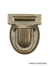 boekentassluiting midden brons