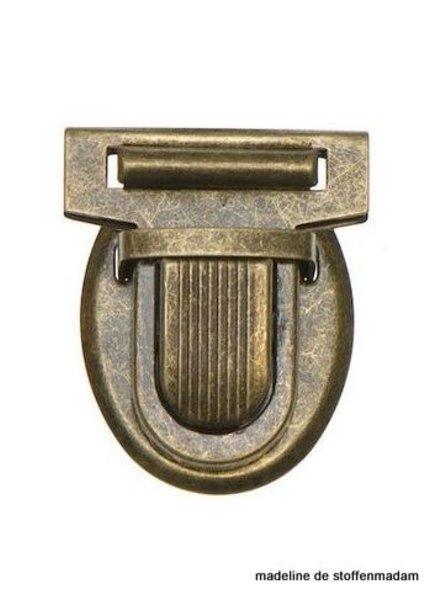 metal bag closure mediumsize bronze