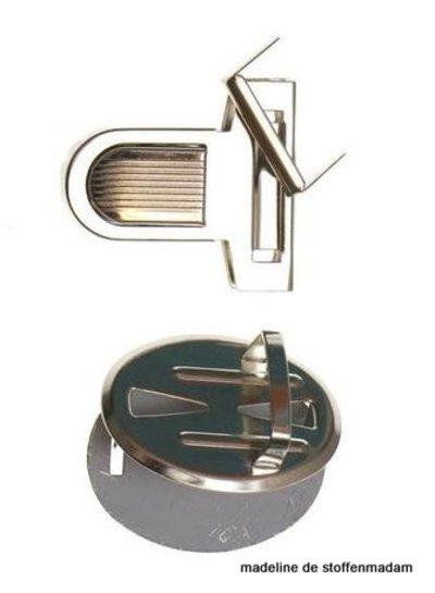 metal bag closure mediumsize silver