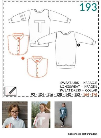 abacadabra - 193 - sweat dress, collar