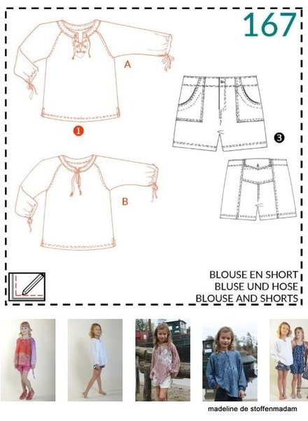 abacadabra - 167 - blouse and shorts