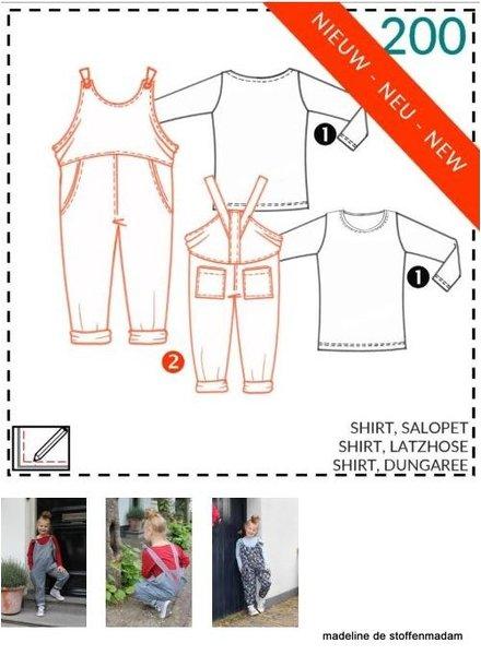 abacadabra - 200 - shirt, salopet