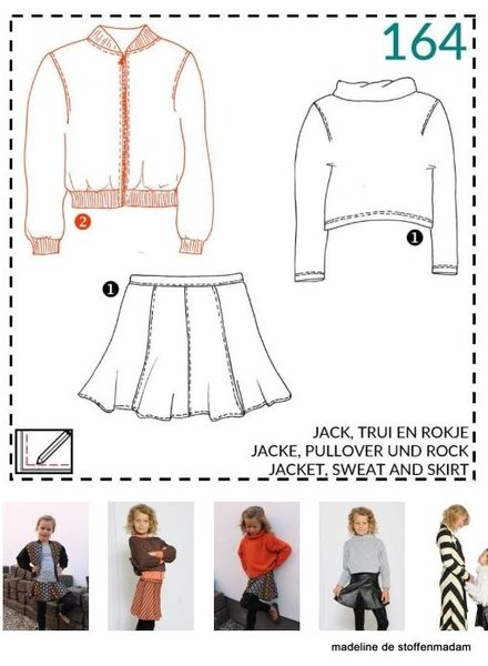 abacadabra - 164 - jacket, sweat and skirt
