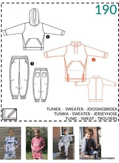 abacadabra - 190 - tuniek, sweater, joggingbroek
