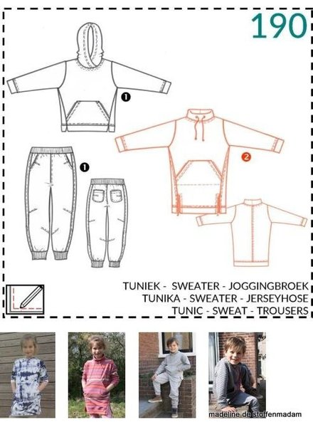 abacadabra - 190 - tunic, sweat, trousers