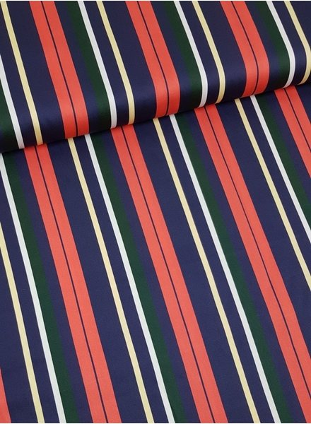 winter stripes coral - stretch cotton