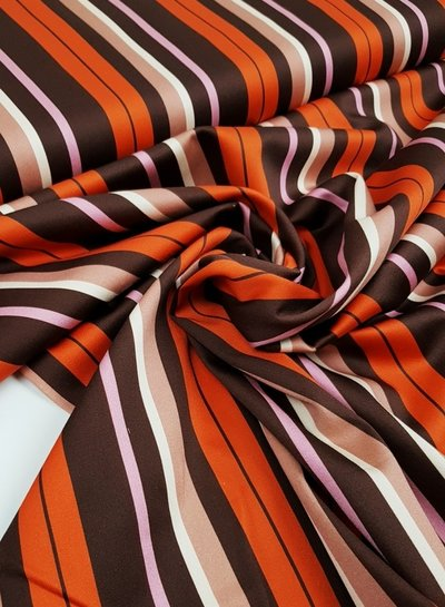 winter stripes orange - stretch cotton